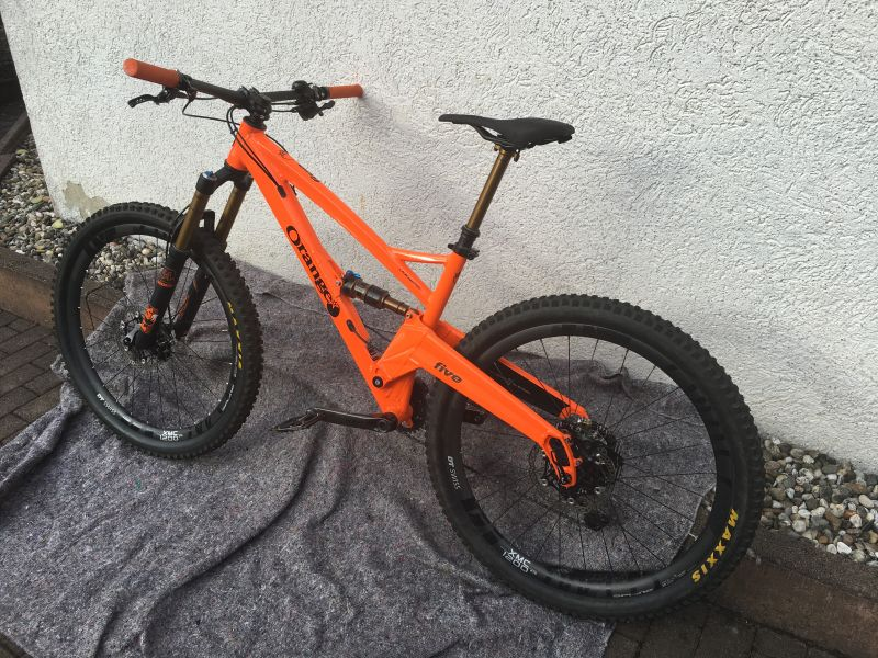 Orange Five MTB 27,5 Custom Made 140mm Federweg, Gr. Medium, 2017